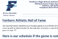 Athletic Hall of Fame Information