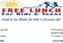 Fairborn City School District Summer Lunch program information