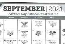 September Breakfast and Lunch Menus