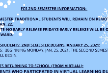 FCS 2nd Semester Information