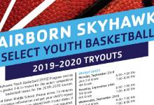 Fairborn Skyhawks Youth Basketball program tryouts/dates/times