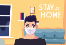 Stay at Home Graphic