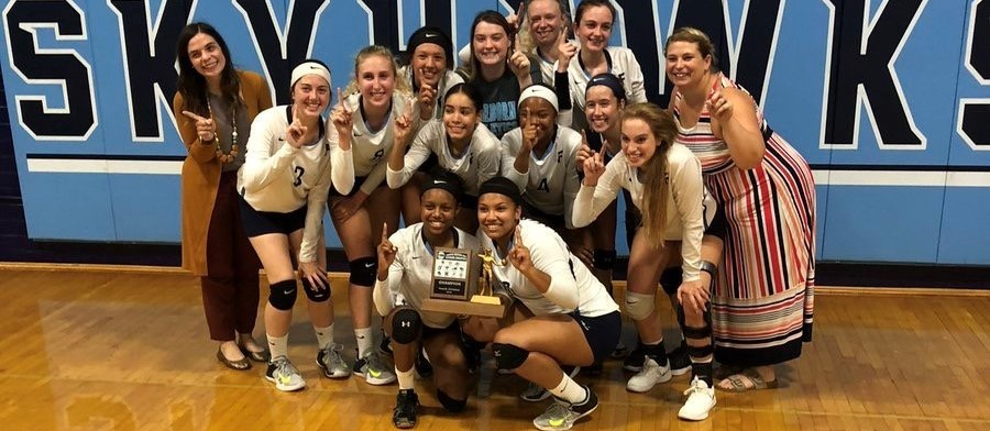 FHS Girl's Volleyball wins GWOC South title!