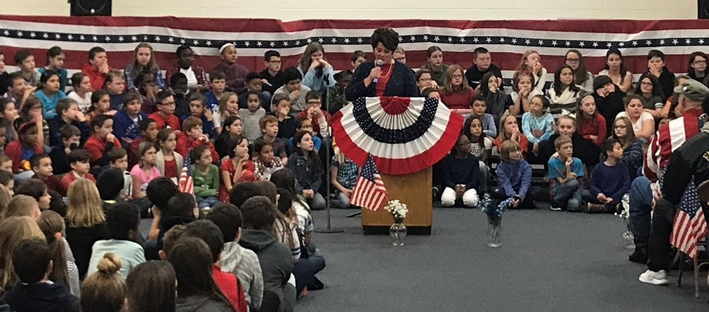 Veteran's Day celebration at Fairborn Intermediate School