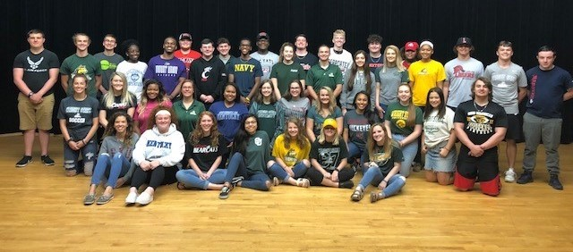 College and Military Shirt Day at Fairborn High School