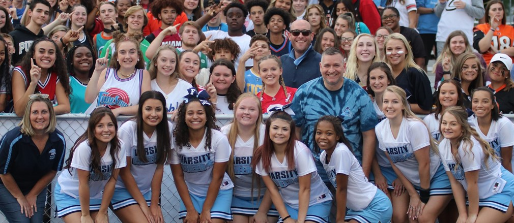 Spirit section at Fairborn High School football game
