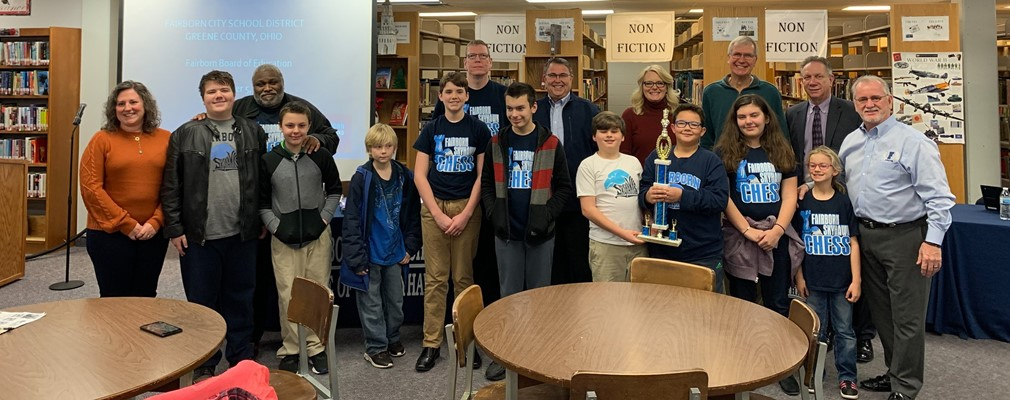 FCS Chess Club recognized at board meeting-5th grade state champions