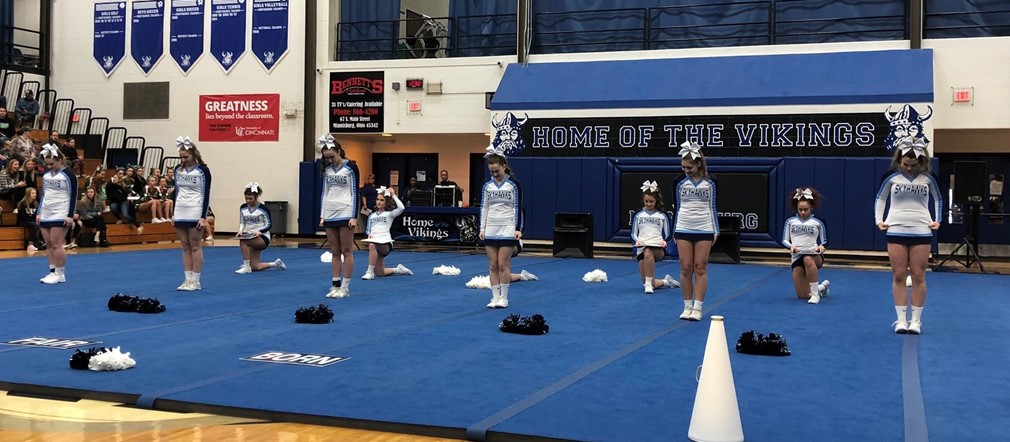Varsity Cheer at Qualifiers