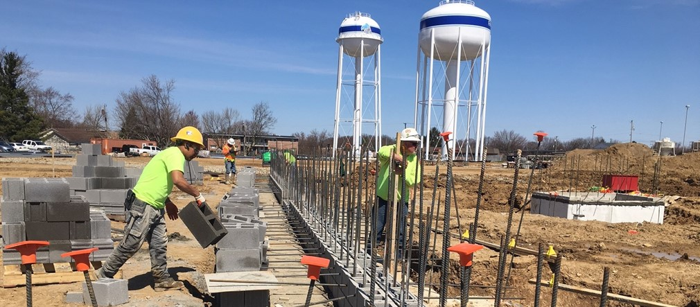 Construction at the new Fairborn Primary School