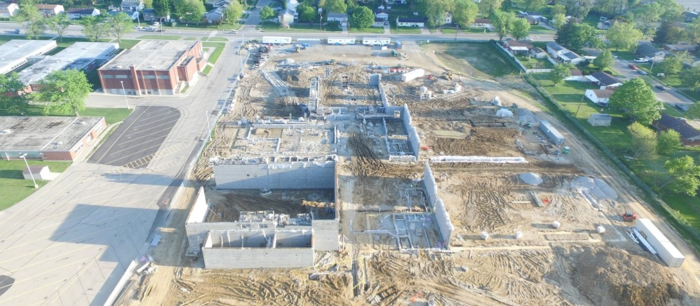 Aerial View Fairborn Primary new construction