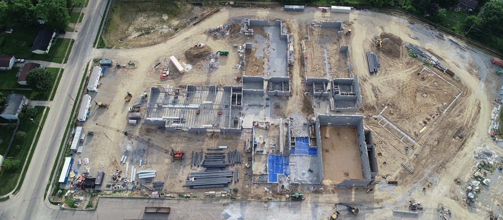 Aerial view Fairborn Primary School