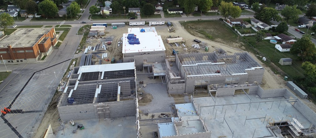 FPS Aerial view of construction site