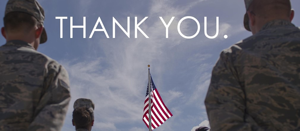 Thank you for your service to our great nation!
