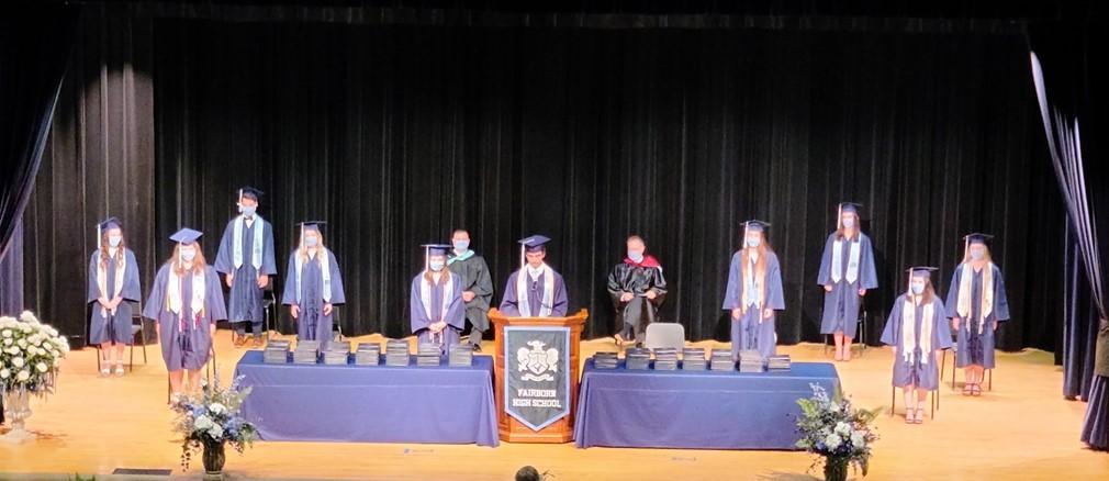 Fairborn High School Class of 2020 Senior Class officers at graduation