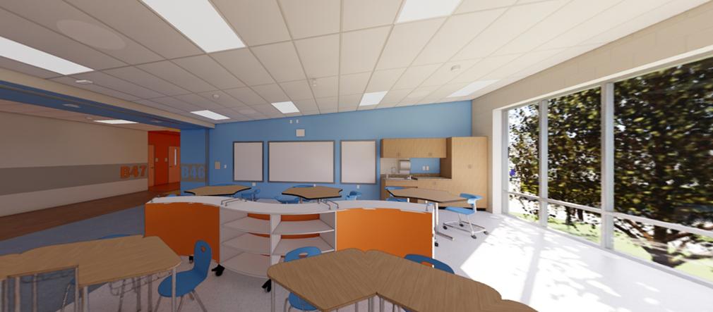 Fairborn Intermediate School English Language Arts Classroom rendering