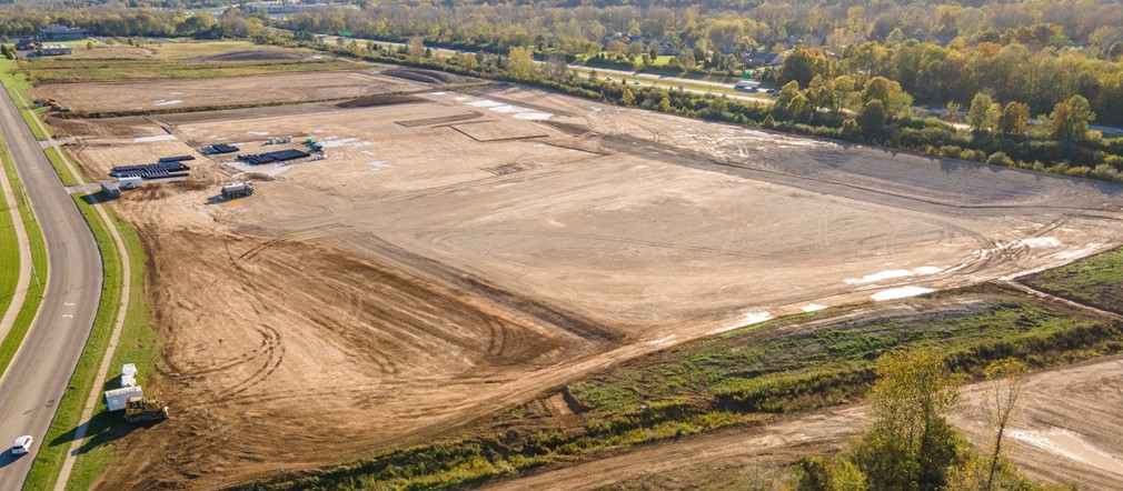 Aerial photo FHS construction site from Mark Rickert-Busy Bee Aerials LLC October 18, 2021
