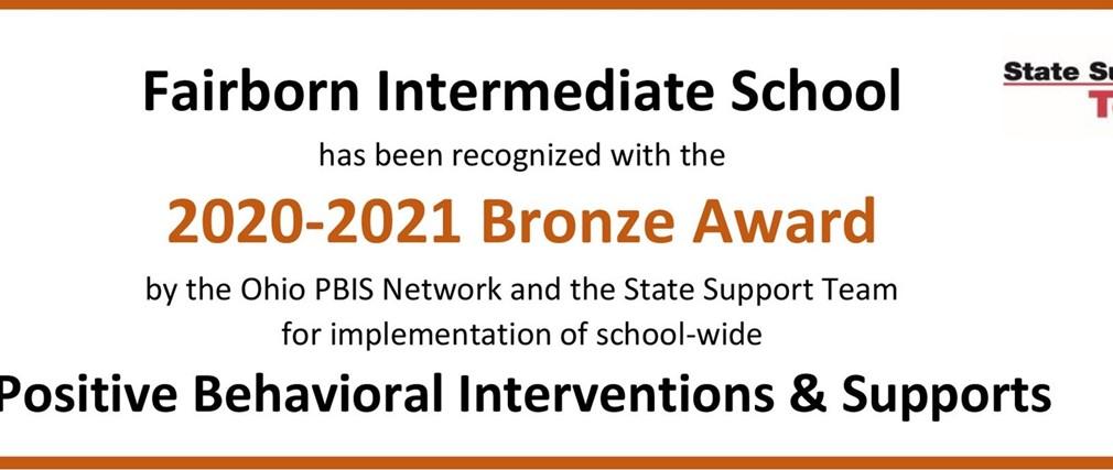 Fairborn Intermediate School 2020-2021 Bronze Award PBIS