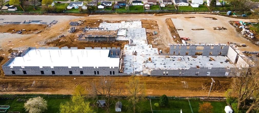 Construction site photo Fairborn Intermediate School