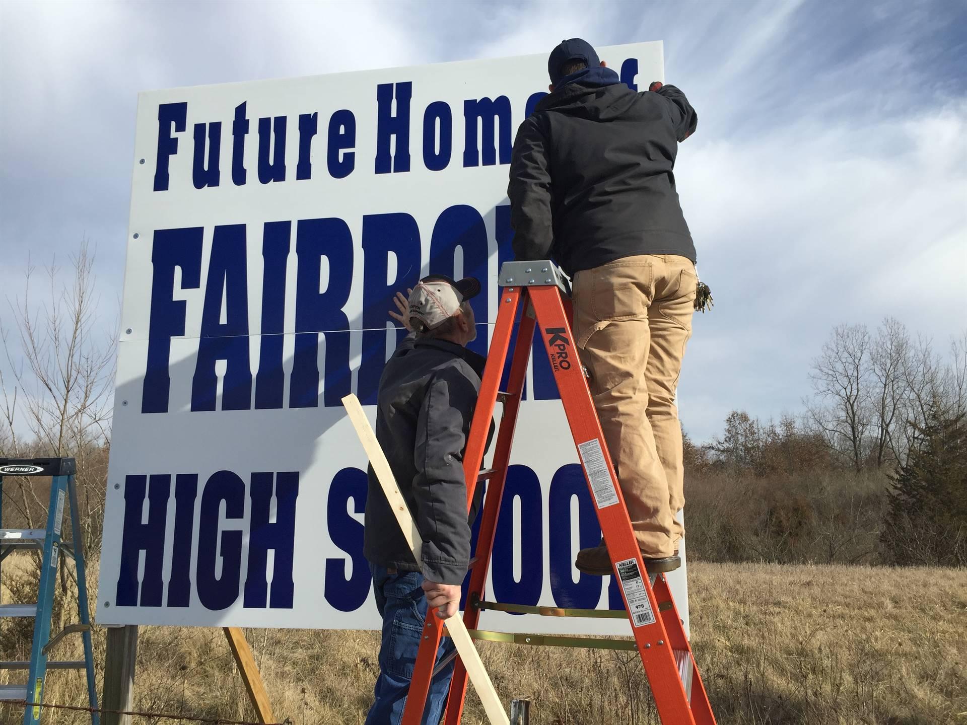 Fairborn High School land on Commerce Center Blvd.