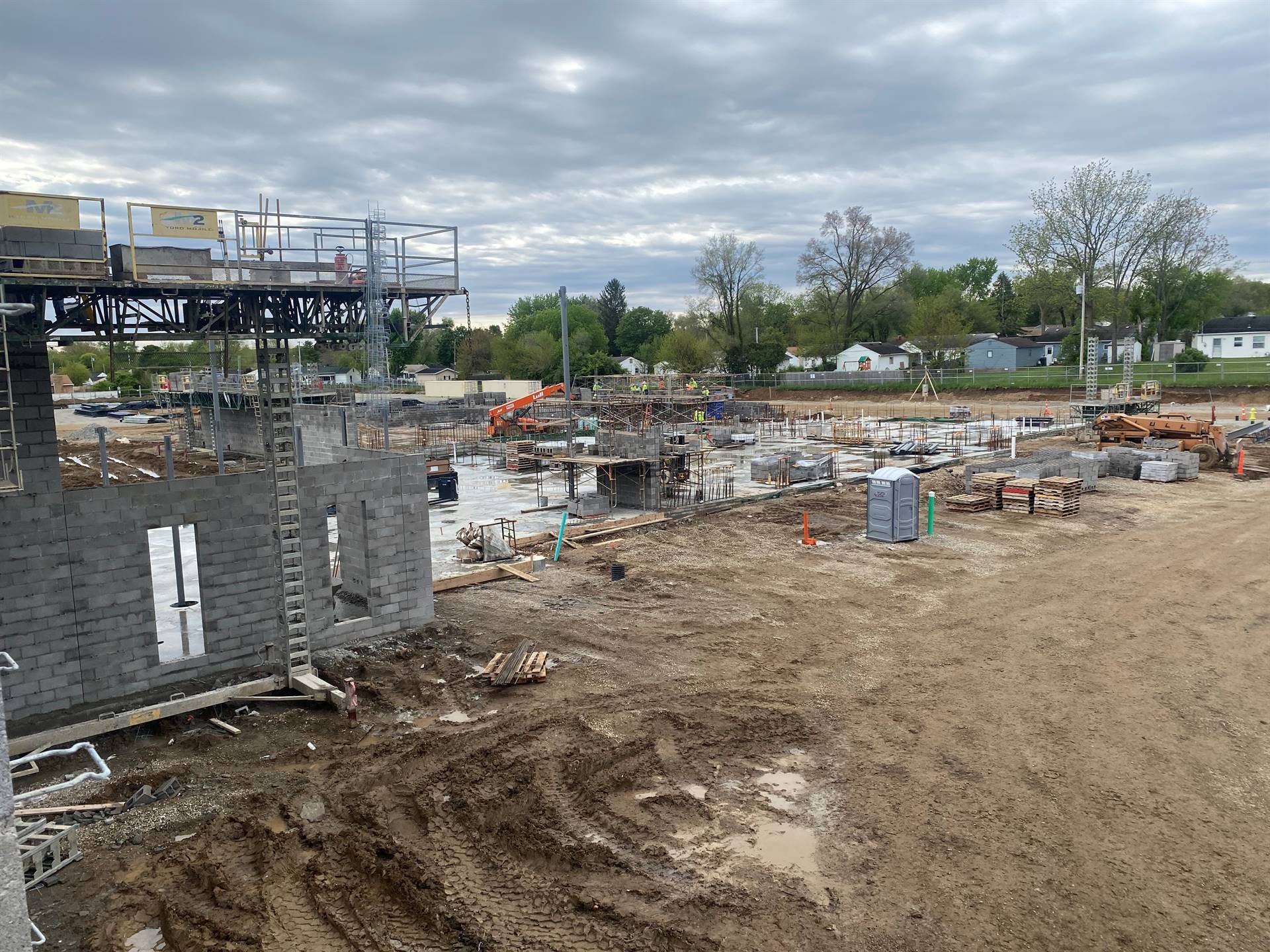 Area C-May 12, 2021 Fairborn Intermediate construction site