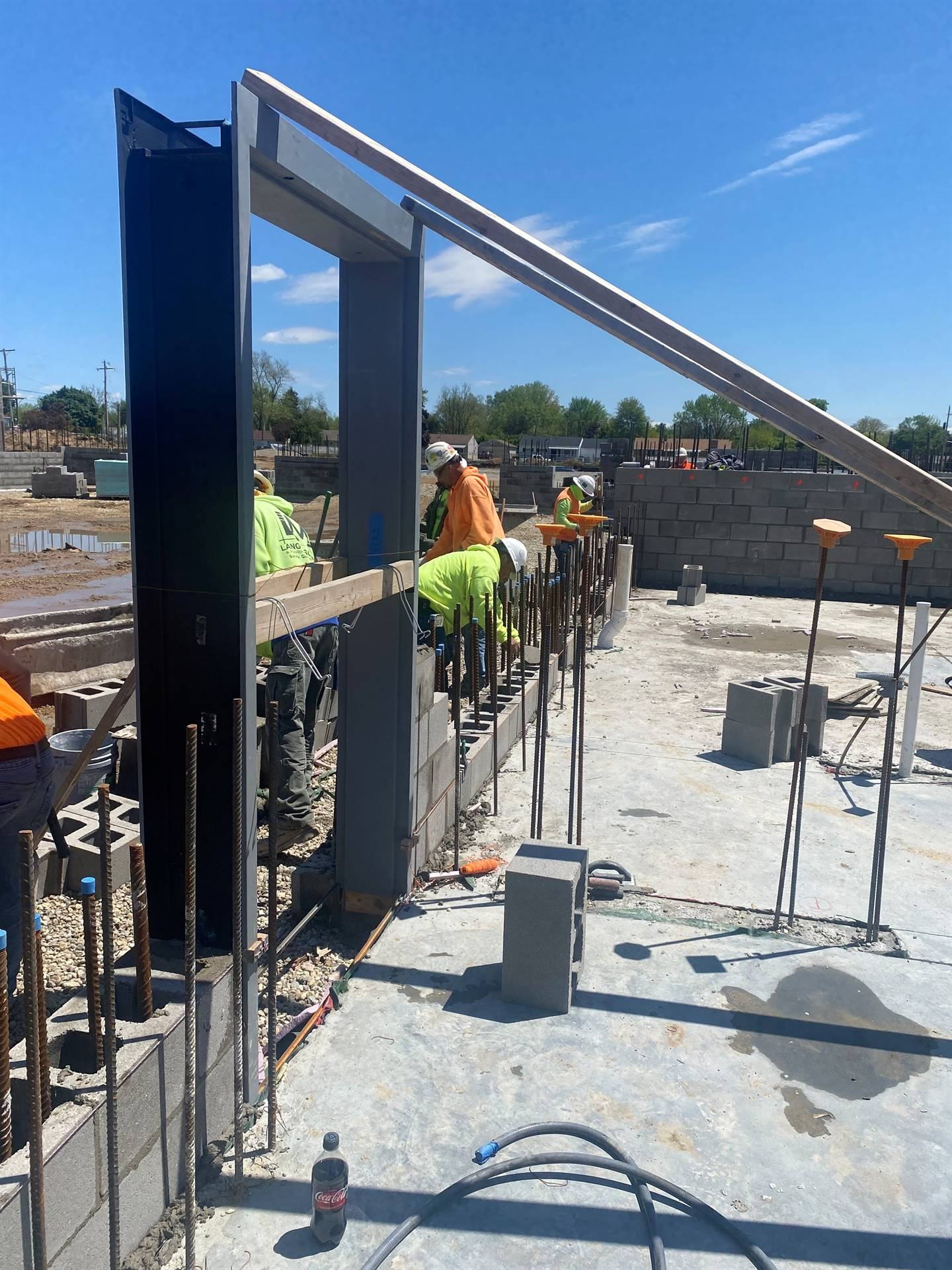South Wall of Gym-May 12, 2021 Fairborn Intermediate construction site