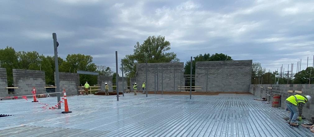Area A Fairborn Intermediate construction site May 12, 2021
