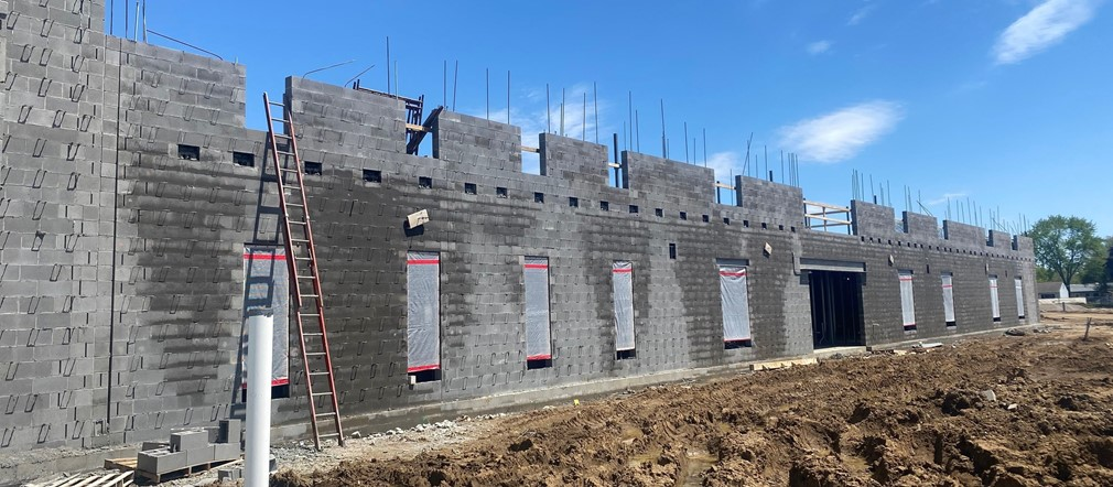 Area B South Wall Fairborn Intermediate construction site May 12, 2021