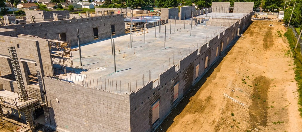 Aerial photo Fairborn Intermediate construction site June 5, 2021 Busy Bee Aerial Productions LLC