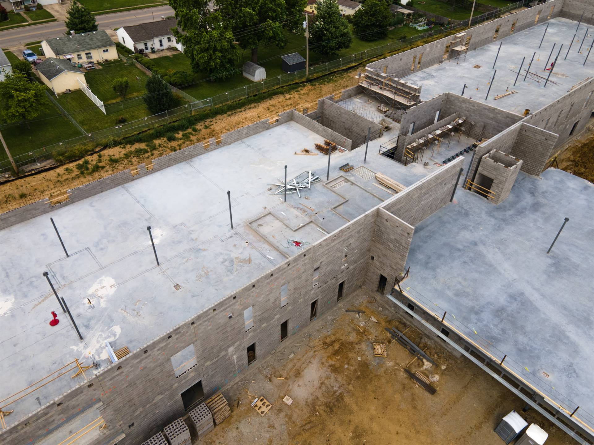 Fairborn Intermediate School View from June 27, 2021 photos from Mark Rickert Busy Bee Aerial Produc
