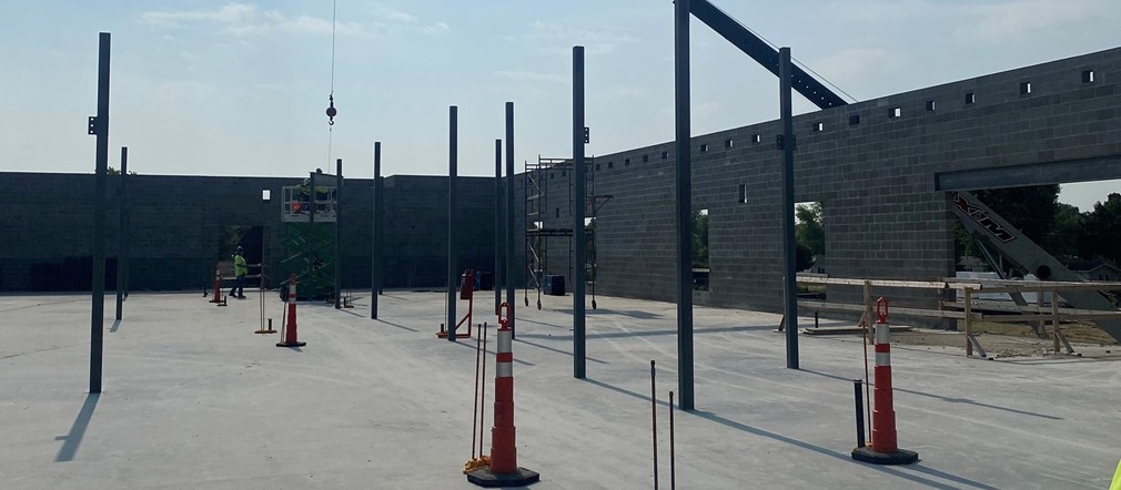 Updated construction photo Fairborn Intermediate School July 7, 2021