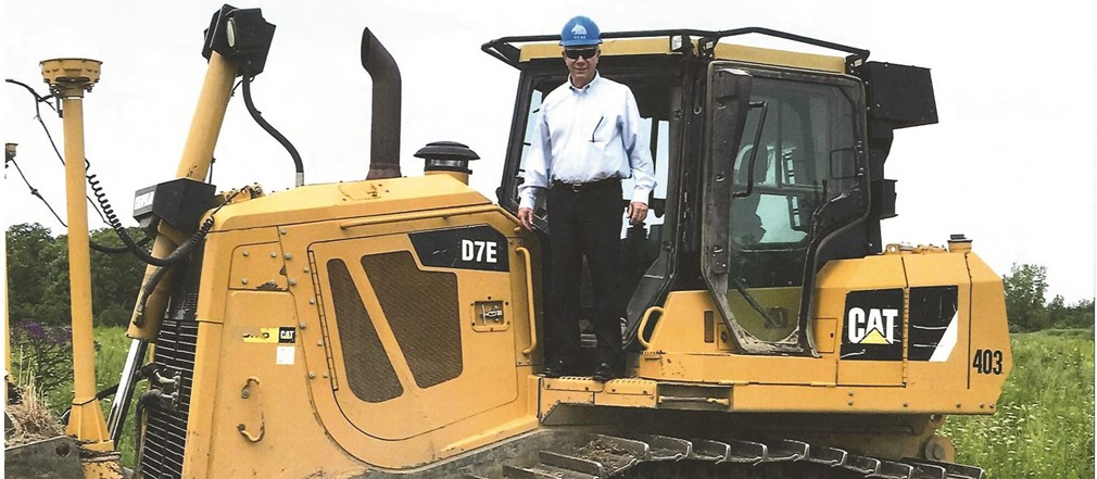 Superintendent Lolli at the construction site for the new Fairborn High School complex