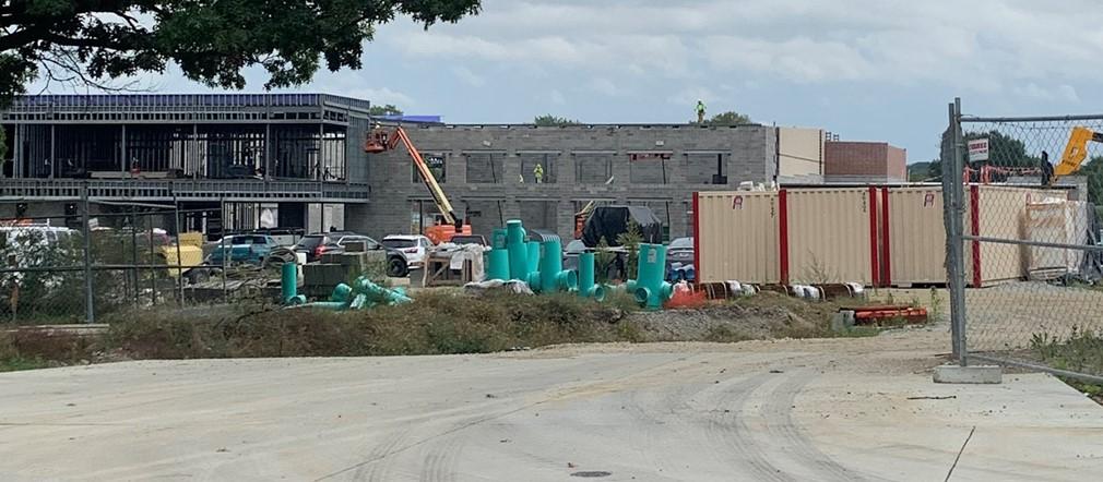 Fairborn Intermediate School construction photo September 20, 2021