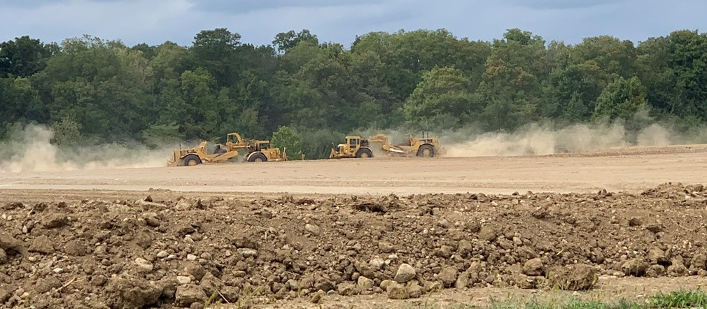 Land clearing at Fairborn High School construction site September 20, 2021