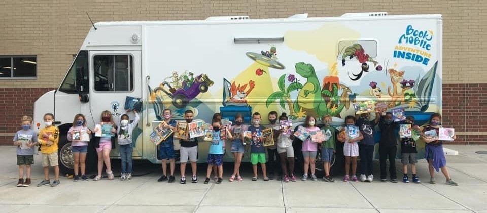 Bookmobile visits our youngest Skyhawks!