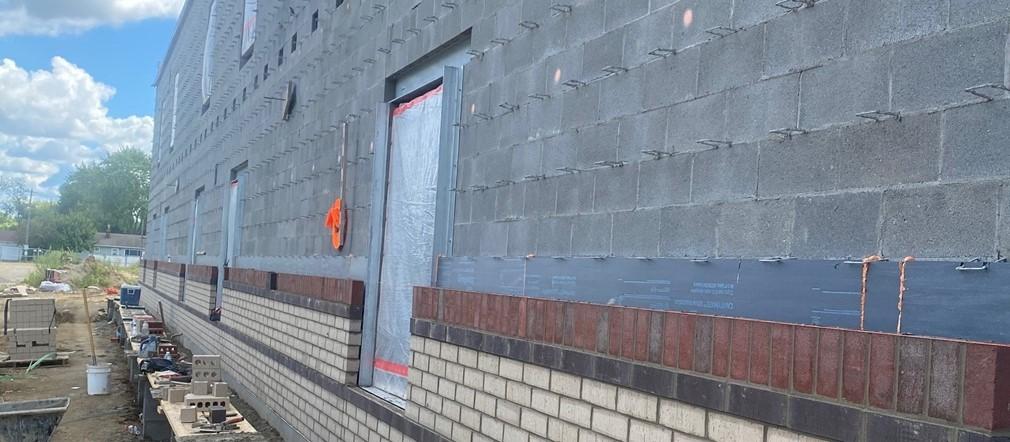 North East Wall Area B-Fairborn Intermediate Construction site September 9, 2021